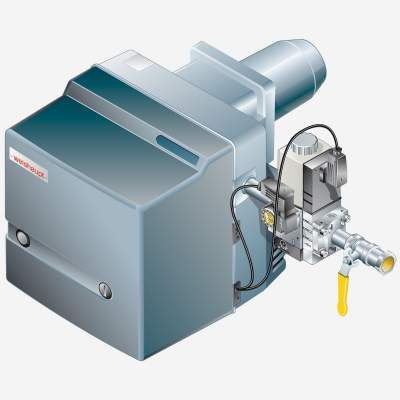 Gasbrenner WG10N/1-D Z-LN Armaturen R3/4, W-MF 507, 25-110 kW - 1