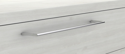 Mineralgußwaschtisch mit Unterschrank derby plus rechts 170x480x1000 mit Griff Eiche Dekor Flanelle - 1