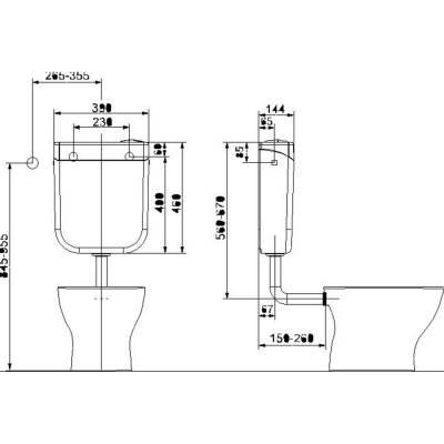 Spülkasten 3l/6-9l weiss mit 2-Mengen-Spültechnik VIGOUR - 1