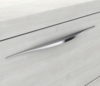 Mineralgußwaschtisch mit Unterschrank derby 570x480x700 mit Griffleiste Weiß Hochglanz - 1