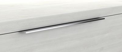 Mineralgußwaschtisch mit Unterschrank derby plus 170x480x1400 mit Griffleiste  Weiß Matt - 1