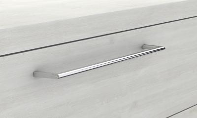 Glaswaschtisch mit Unterschrank derby rechts 570x480x1200 mit Griff Tectona Dekor Zimt - 1