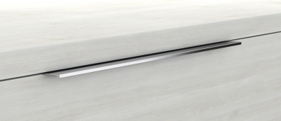 Mineralgußwaschtisch mit Unterschrank derby plus rechts 170x480x1000 mit Griffleiste Nussbaum Dekor Samt - 1