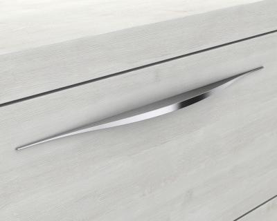 Mineralgußwaschbecken mit Unterschrank derby links 490x250x600 mit Griffleiste Marone Dekor Trüffel - 1