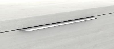 Mineralgußwaschtisch mit Unterschrank derby plus rechts 170x480x1000 mit Griffleiste Eiche Dekor Merino - 1
