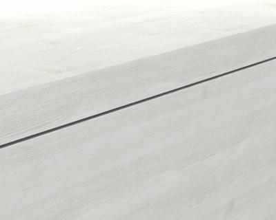 Mineralgußwaschbecken mit Unterschrank derby links 490x250x600 mit Tip-On-Technologie Eiche Dekor Merino - 1