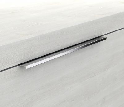 Glaswaschtisch mit Unterschrank derby 570x480x700 mit Griffleiste Schwarz Hochglanz - 1