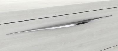 Mineralgußwaschtisch mit Unterschrank derby plus rechts 170x480x1000 mit Griffleiste Weiß Matt - 1