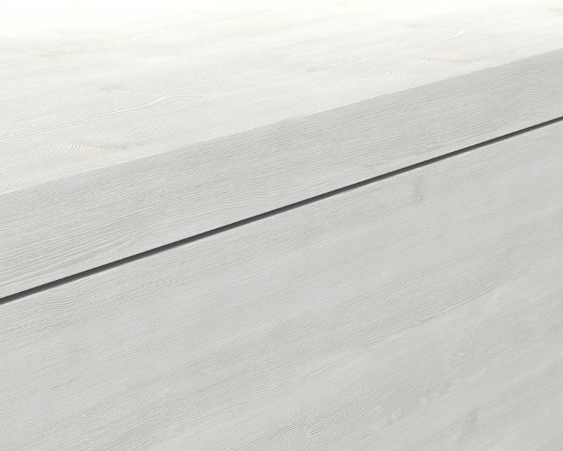 Mineralgußwaschbecken mit Unterschrank derby rechts 490x250x600 mit Tip-On-Technologie Eiche Dekor Merino - 2