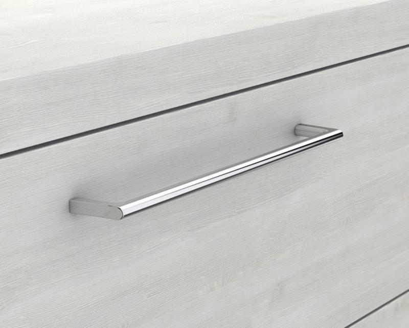 Glaswaschbecken mit Unterschrank derby rechts 490x250x600 mit Griff Eiche Dekor Merino - 2